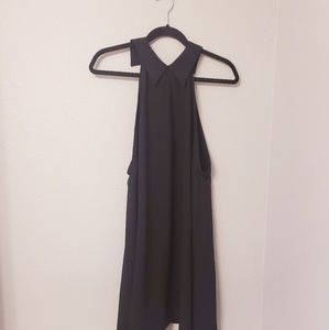 Asos black peter pan collar shift dress. Size 6